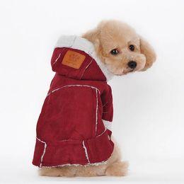 Super Deal chien vêtements d'hiver manteaux et vestes Suede Tissu Chien Vêtements Animaux Manteaux Doux Coton Chiot Chien gros vêtements pour chiens ? partir de fabricateur