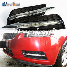 Wholesale Daytime For Cruze - For Chevrolet CRUZE 2009 2010 2011 2012 Auto Car 9 LED DRL Daytime Running Lights Fog Lamp Freeshipping D10