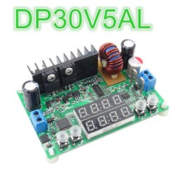 Wholesale Mini Voltage Regulator - 5pcs lot Mini DP30V5AL LED display digital Voltage converter regulator voltmeter Step-down Programmable Power Supply module
