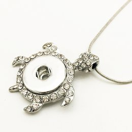 Wholesale 14k Turtle - Fashion Turtles snap button jewelry pendant Necklace NX6667 (fit 18mm 20mm snaps) DIY Party dress jewelry Chiristmas