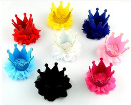 Wholesale Cheap Asian Hair - wholesale fancy toddler baby girls hot selling pink sequin lace crown hair clips factory price Cheap hair accessories for children mix order