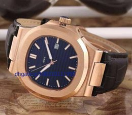 Wholesale Self Factory - 2016 Factory Wholesale -2015 NEW Luxury Brand Roes Gold Men's Nautilus Wristwatch Fashion Leather Band Automatic Self-wind Men Watch