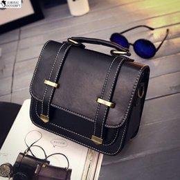 Wholesale Wholesale Retro Handbag - Wholesale-HANSOMFY 2015 Autumn And Winter English Lunfan Retro Postman Messenger Bag Handbag Youpi Double Arrow