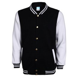 Wholesale New Fashion Jacket Mens - New High School Baseball Jacket Men Veste Homme 2017 Autumn Mens Fashion Slim Cotton Varsity Jackets Casual Brand College Jacket