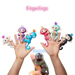Wholesale Wholesale Toy Sales - Fingerlings Marmosets Smart Toys 6 colors Pre-sale Interactive Baby Monkey Finger Toys Electronic Smart Touch Fingers Monkey