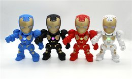 Wholesale Mp3 Tf C - C-89 Iron Man Robot Wireless bluetooth mini speaker LED Mini Portable Subwoofers Handsfree Support TF Card USB FM Radio Loud Speakers
