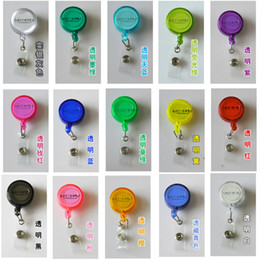Wholesale Clear Plastic Photo Keychains Wholesale - Frosted easy to pull buckle retractable lanyard badge lanyard easy to pull easy to pull buckle sling Badge Holder easy to pull buckle