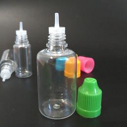 Wholesale 1oz Plastic Dropper Bottle - Top Quality 1500Pcs Carton PET Bottle 30ml Empty Bottles Plastic Dropper Bottle With Childproof Cap E Liquid Oil Bottles 1oz