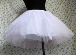Canada Violent Gothique Baroque Rococo Lolita Jupe Bas Noir / Blanc Petticoat Princesse Tutu Organza Crinoline Petticoats Doux Robes Lolita Offre
