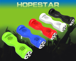 Wholesale Portable Car Shaped Speaker Mp3 - H7 Balance Car Skateboard Scooter Mini speaker Wireless Bluetooth Mini Speaker Hoverboard Shape Subwoofer Support TF Card USB Handsfree