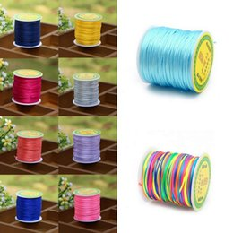 Wholesale Macrame Shamballa - 50M 1.5mm Satin Nylon Cord Chinese Knotting String Thread Macrame Rattail Rope for Shamballa Bracelet Jewelry Making Craft DIY