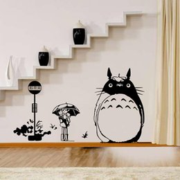 Wholesale Japanese Kid Style - DIY Wall Sticker Japanese My Neighbor Totoro Movie Movie Cartoon Wall Decal for Kid's Room Home Decoration