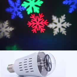 Wholesale Laser Blue 4w - E27 4W laser light halloween decoration LED patern projector light bulb RGB magic rotating ball snow flake flowers candy ghost