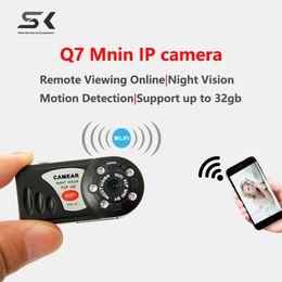 Wholesale Dvr Spycam - New Mini Q7 Camera 480P Wifi DV DVR Wireless IP Cam New Mini Video Camcorder Recorder Infrared Night Vision spycam