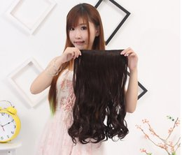 Wholesale Clip Real Extension - Wholesale-FACTORY PRICE 45CM 100% Real Natural Hair Extention Clip in Hair Extensions Curly Fast SHIP