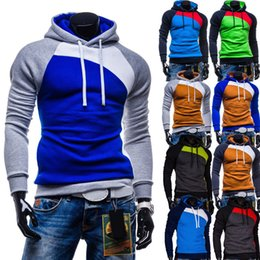 Wholesale Brand Men Hoodies Jackets - Wholesale-New Sport Man Jackets 2016 Brand Casual Colorful Patchwork Color Hoodies Coats Sweatshirt Tops Long Sleeve Gym Hoodies Clothes