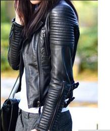Wholesale Xl Slim Faux Leather Jacket - 2017 New Bomber Leather jackets new fashion women designer fashion outerwear jacket supernova sale jaqueta couro size sml Free shipping