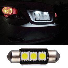 Wholesale Heating Bulbs - Heat sink Super Bright 36MM 3SMD 5050 SMD C5W Interior Festoon car LEDs Festoon Dome Light Bulb Reading Lights