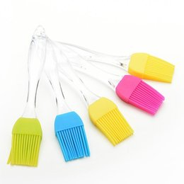 Wholesale Brushes Oils - Wholesale New Heat Resisting Silicone BBQ Basting Oil Brush High Temperature Resistant Cleaning Barbecue Baking Cooking Barbacoa Rociando