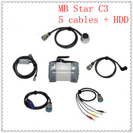 Wholesale Engine For Mercedes Benz - 2016 Promotion MB Star C3 full set five cables Newest for Mercedes-BE NZ Multi-language DHL Free Shipping