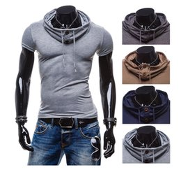 Wholesale Muscle Shirts For Men - Wholesale-Sexy Men Silm Fit Thin Shirt With Solid Color Pile Collar Polo Tops For Muscle Bodybuilding And Street Wear Gym Suit