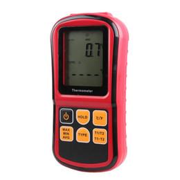 -50 ~ 300 grados Termómetro termopar Medidor de temperatura industrial J K T E N R S Tipo Termopar probador de temperatura GM1312 desde fabricantes