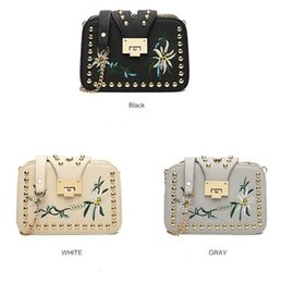 Wholesale Kanye West Chain - Hot high quality PU Korean style, fashion, Embroidery small square bag shark kanye west The single shoulder bag Inclined shoulder bag