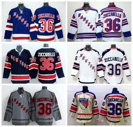 Wholesale Green Ranger Spandex - 2016 Ice Hockey 36 Mats Zuccarello Jersey Cheap New York Rangers NHL Jerseys Winter Classic Stadium Series Team Navy Blue White Gray Beige