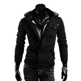 Wholesale Mens Hoddies - Wholesale-2016 Hot Mens tracksuit Casual Collar Cap Men Hoodies Felpe Moleton Masculino Felpa Uomo Hoddies Sweat Homme Sweatshirts