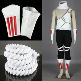 Wholesale Make Bee Costume - Killer Bee Naruto Cosplay White Unisex Outfit Full Set Perfect Suit For Men Sixe XS -3 XL