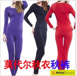 Wholesale Underwear Sets L Size - Wholesale-new arrival women Wholesale manufacturers winter female high elastic lsuper large modal comfort set underwear plus size XL-4XL