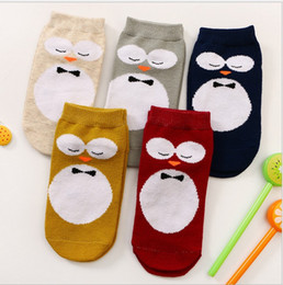Wholesale Size Kids Legging - 2016 New Kids Lovely 3D Owl Socks Baby Boy Girl 100% Cotton Leg Warmers stocking Children Summer Socks Boys Girls Fashion Socks 3 Size