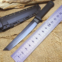 Wholesale Cold Steel Knife Recon - OEM Cold Steel Recon San Mei Tactical Fixed Blade Knife Camping Hunting Knife Survival Tools Japan Tanto VG-1 Tactical Survival Warrior MIV