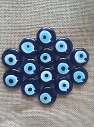 Wholesale Glass Evil Eye Necklace - Wholesale 50pcs 30mm Evil Eye Pendant Turkish Blue Glass Eyes Good Luck Charms Pendant Jewelry Accessories For Necklace Key Rings