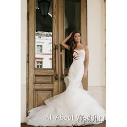 Wholesale Design Strapless Satin Wedding - New Strapless Lace New Mermaid Wedding Dresses Lebanon Design Sexy Luxury Bridal Gown 2016 Vestidos Casamento