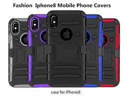 Wholesale Silicone Tpu Slip - For IPhone8 Fashion TPU Mobile Phone Shell Three Sets Of Black Red Slipped Deep Blue Purple Changsheng Gray Five Colors Of Protection Shell