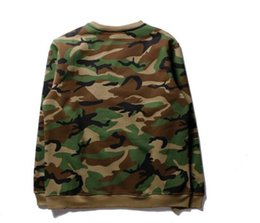 Wholesale Wholesale Logo Sweaters - 2017 Seiko Edition SUPREM CLOTHING Embroidery logo camouflage men and women sweater LK177902 designer shirts