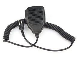 Wholesale icom handhelds - Handheld Shoulder Speaker MIC Microphone for ICOM IC-F3  IC-F3S  IC-F4 Radios 2 Pin Jack