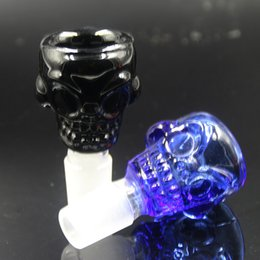 Wholesale Glass Ring Males - 2016 Skull Glass Bowls 14mm 18mm glass water pipes male bowl Thickness 7mm large capacity for oil rings Glass Bongs