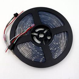 Digital led streifen schwarz pcb online-5M WS2811 DC12V 48 LEDs / m RGB LED-Adressstreifen Digitalband Schwarz PCB wasserdicht IP67 SMD5050 Pixel Streifen flexibles LED-Röhren-Pixellicht