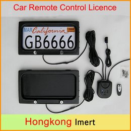 Wholesale Auto Plate Frames - USA szie Metal Auto Car Remote Control Licence Plate Holder, Privacy Cover, Stealth Hidden License Plate Frame 315*170*25.8mm