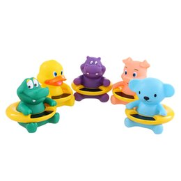 Wholesale Baby Bath Temperature Toy - Wholesale- Cute Animal Duck Toy Bath Tub Infant Baby Water Temperature TesterThermomer