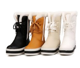 Wholesale Skins Half - Fashion new fund with waterproof winter in thick bottom sponge with warm soft skin tube female boots in the snow boots