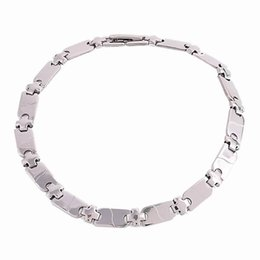 Wholesale Chian Wholesale - Simple Stainless Steel bracelet Fashion 6*200MM Chian Men and Women Silver Tone link Chain bracelet Jewelry Christmas Gifts