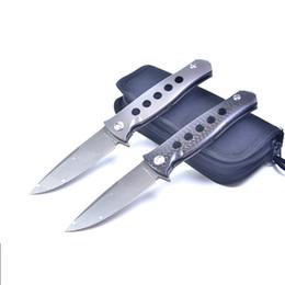 faca de corte dobrável Desconto 2 Syle High END D2 aço Flipper faca de lâmina dobrável 60HRC Carved padrão lâmina TC4 titanium alloyCarbon Fiber