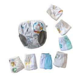 Wholesale Print Robot - 8 colors Boys cartoon printing briefs cute bear robot Doraemon splicing triangle pants 4 sizes kids underwears for 2-8T