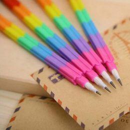 Wholesale Plastic Building Supplies - High Quality 20pcs  Lot Building Block Pencils Writing Pens Novelty Pens Office Supplies Prize Cute Pen Creative Free Shipping Papelaria