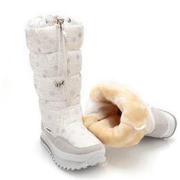 Wholesale Flower Girl Boots - snow boots women winter boots woman snowflake Plus velvet fashion zipper up girl white colour flower snow boots