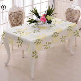 Wholesale Pvc Tablecloths - 60pcs PVC Pastoral Square Table Cloth Waterproof Oilproof Non Wash Plastic Pad Anti Hot Coffee Tablecloth ZA0798