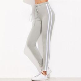 Argentina 2017101831 Pantalones de cintura alta Pantalones Mujer Cordón Cintura Pantalones pitillo Pantalones de punto acanalado de punto acanalado gris Suministro